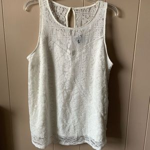 Torrid Size 0 White Lace Dress Tank